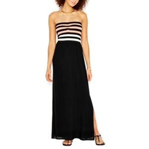 Rachel Roy Maxi Strapless Striped Dress XS